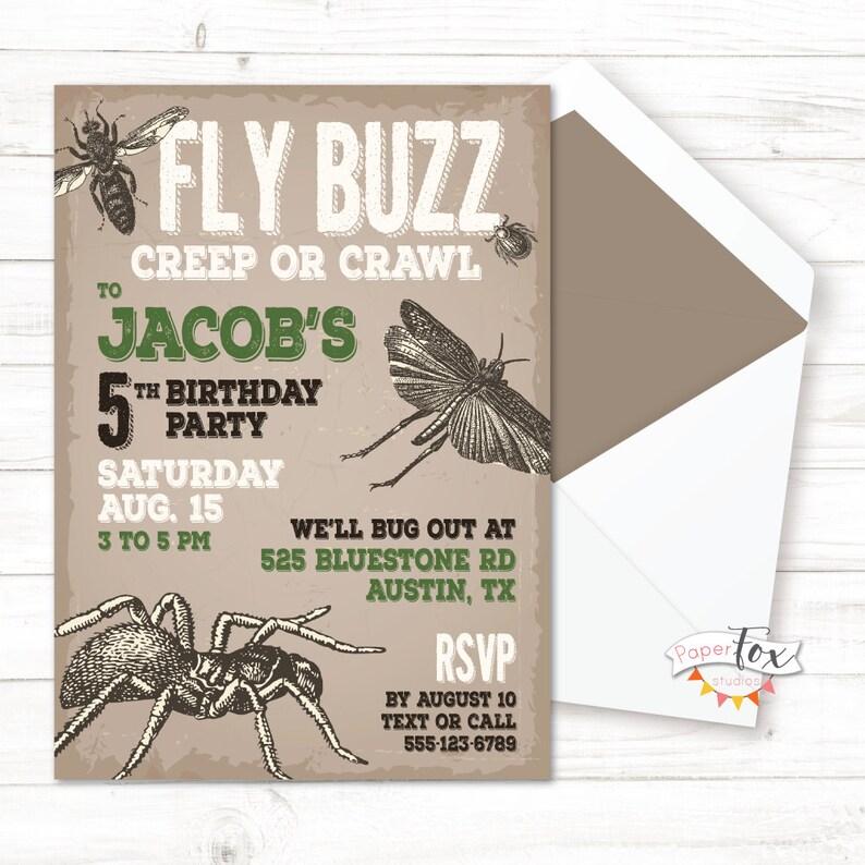 Insect Birthday Invitation Party Invitations