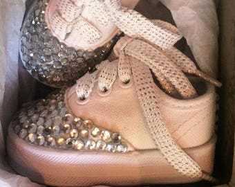 Jeweled Baby Shoes Size 1