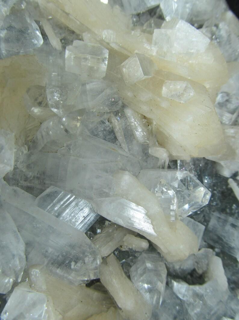 Apophyllite and Stilbite Jalagon India Cabinet Mineral Specimen Deccan Basalts