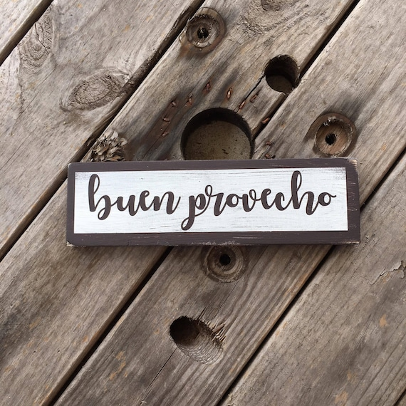 BUEN PROVECHO Mexican Kitchen Spanish Good Appetiite Long Sign U Pick Colors