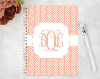 Personalized notebook with tribal arrows,  glossy spiral notebook, custom notebook, school notebook, back to school supplies
