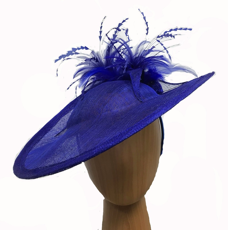 c903d626925f1 Large fascinator with sculptured feather sprays asymmetric