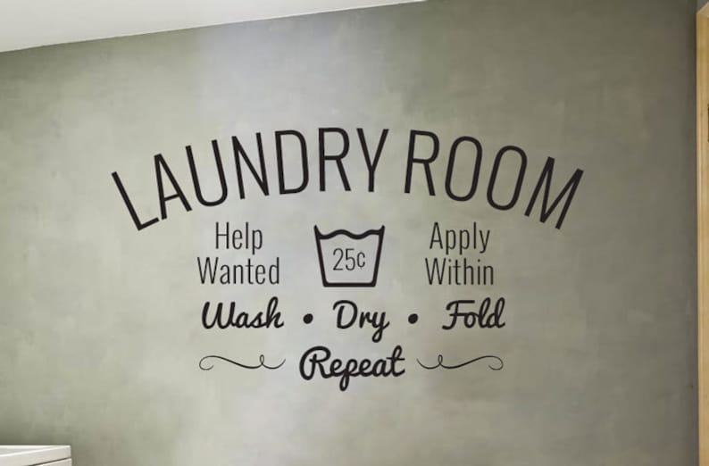 Laundry Decal  Laundry Room decal  Wall decal image 0