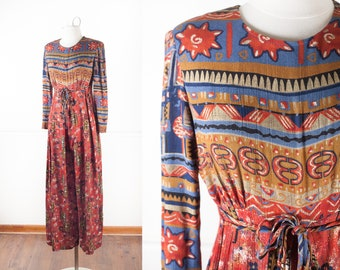 06bf61c05579 90s Grunge Crinkle Rayon Wide Leg Jumpsuit
