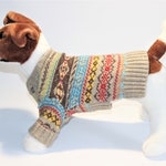 "Dog SWEATER 11"" XS Small Tribal Stripe Sweater"