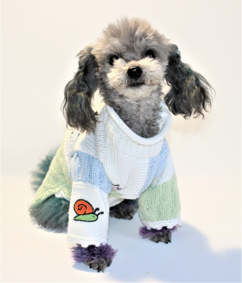 Dog SWEATER 11 XS Small Upcycled Hanna Andersson Roll image 0