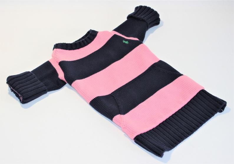 Dog SWEATER 15 Medium Upcycled Striped Sweater image 0