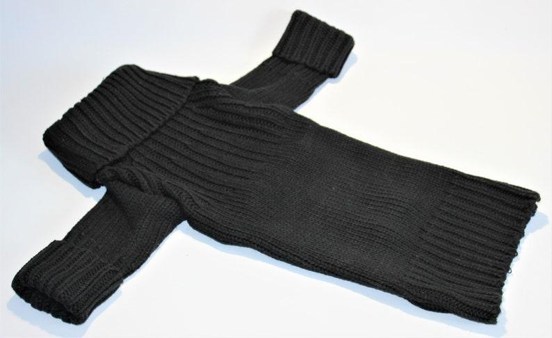 Dog SWEATER 20 Large Upcycled Black Turtleneck Sweater image 0