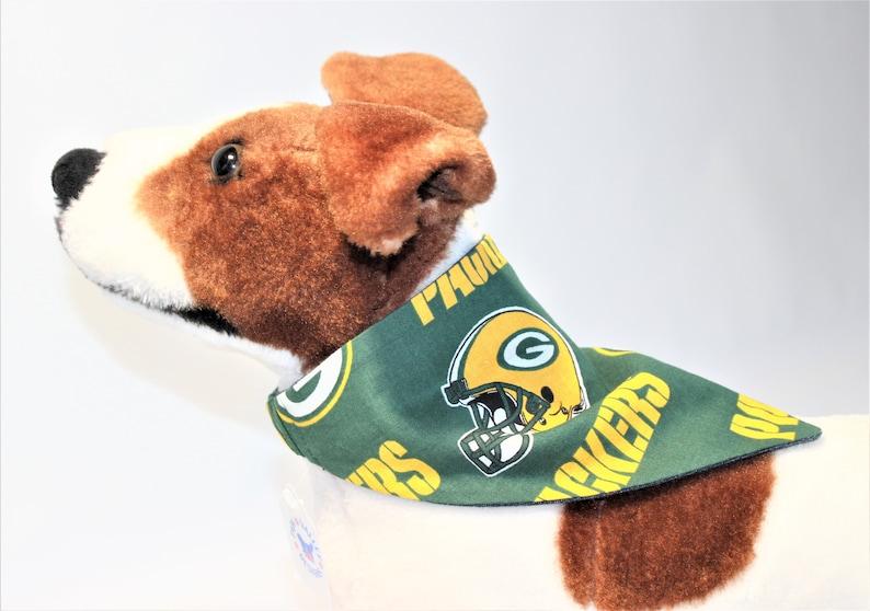 Green Bay Packers BANDANA Dog Cat XXS Small Medium image 0