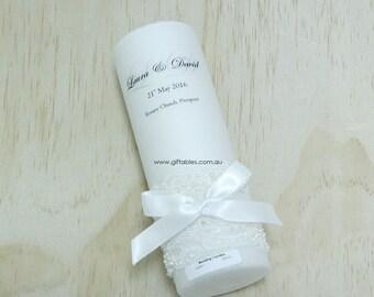 Wedding Candle - Lace 1