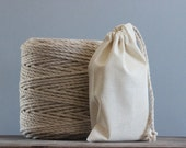 Large Calico Pouches|Set Of 5 Bulk Food Bags|Handmade in Australia|Grocery Bags| Packaging Bags|Natural Cotton|Food Storage Zero Waste