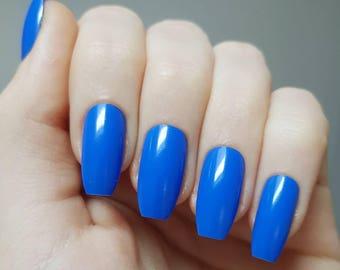 Royal Blue False Nails