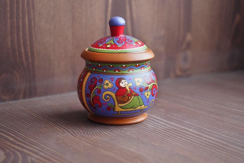 Dipingere Portagioie Di Legno : Portagioie in legno. dipinto a mano con ornamenti russi. arte etsy