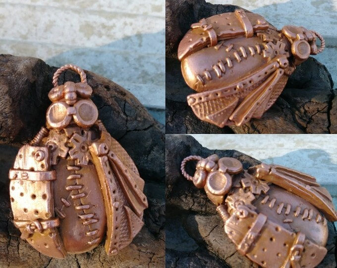Steampunk Lady-Upcycled Electroformed Sculpted Pendant -One of a Kind Jewelry -Unisex