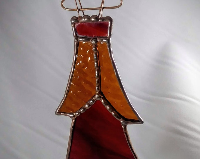Party Dress Cosplay Closet Stained Glass Ornament