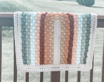 NEW AND IMPROVED *** Boho Rainbow  Blanket  - Crochet Pattern