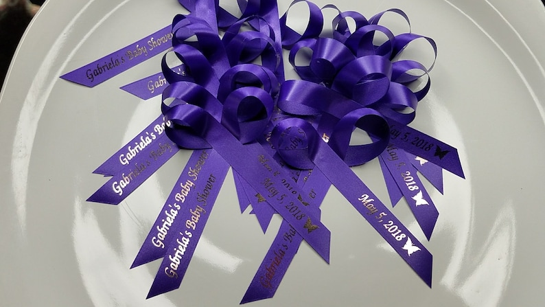 Personalized Ribbons Baby Shower Bridal Shower Wedding Or Etsy