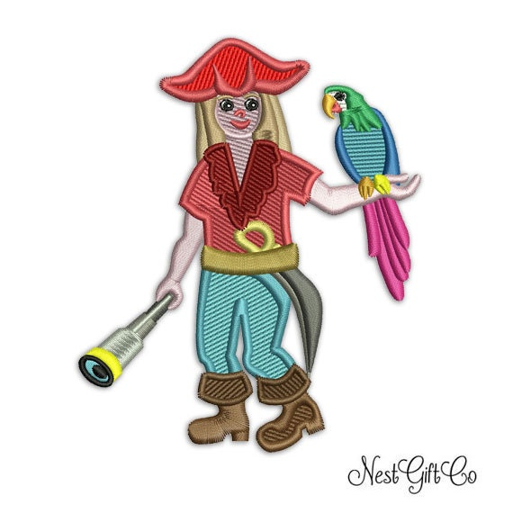 Pirate Boy Embroidery Design Kids Machine Embroidery Etsy