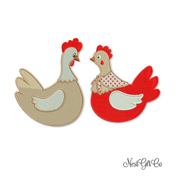Hen Embroidery Designpes Instant Download File Bernina Etsy