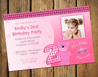 Girls 2nd Birthday Party Invitations Our Little Princess