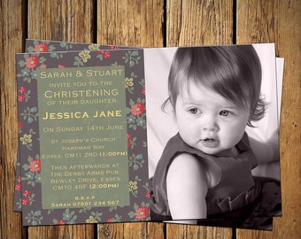 Christening / Baptism Party Invitations Designer Print