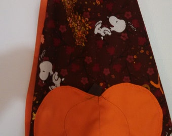 Children's Fall Snoopy Apron.