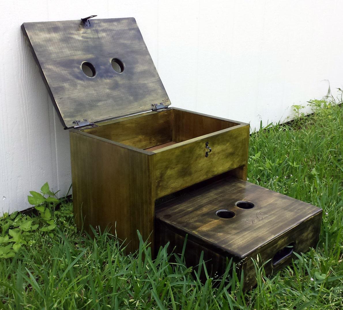 step stool storage box rustic celtic art nouveau etsy. Black Bedroom Furniture Sets. Home Design Ideas