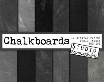 Chalkboard Digital Paper 85x11 Real