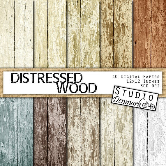 Distressed Wood Digital Paper   Digital Wood Textures   Peeled Paint  Backgrounds   Commercial Use   Instant Download Wood Texture