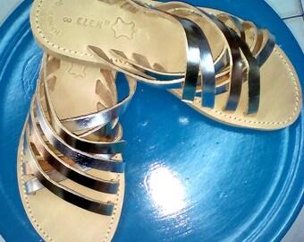 Collection 2018, Greek Leather Sandals, Rose Gold Sandals, Handmade Sandals, Strappy Sandals, Flip Flops Sandals, Summer Sandals.