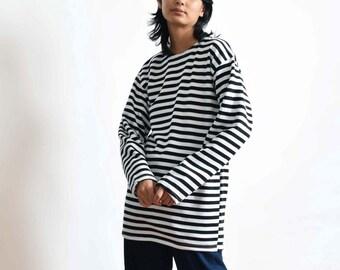 35ee09b948a Vintage Striped Cotton Sailor Top XS S M