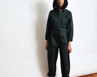 bd685cdef20 Vintage Smaller Fit Coveralls in Dark Green Jumpsuit Flight Suit Boiler  Suit XS S M