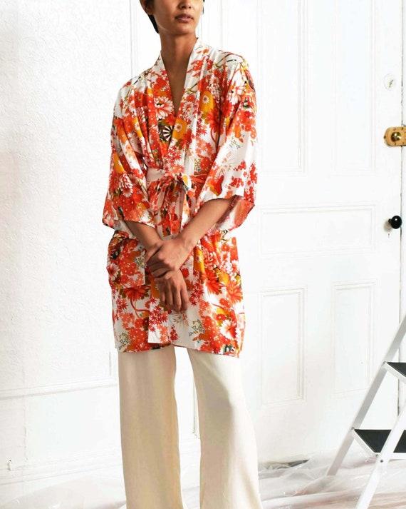 Vintage Floral Japanese Robe