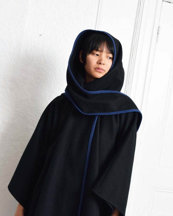 Vintage Hooded Cape Coat
