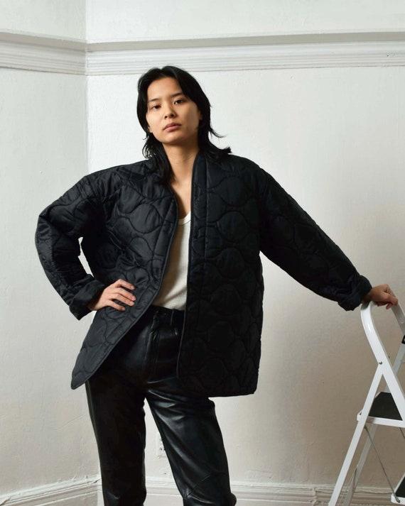 Vintage Black Liner Jacket Quilted Jacket
