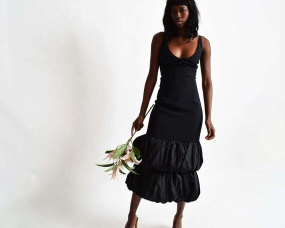 Vintage Ruffle Hem Dress - image 3