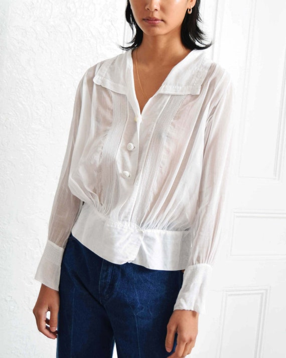 Antique Pintucked Blouse - image 4