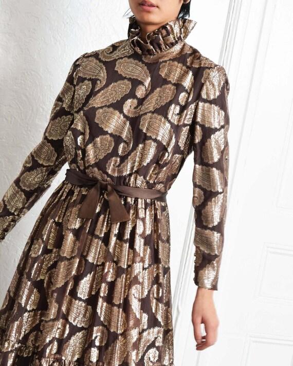 Vintage Ceil Chapman Paisley Dress - image 3