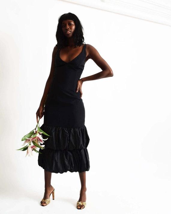 Vintage Ruffle Hem Dress - image 6