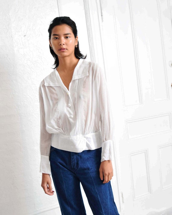 Antique Pintucked Blouse - image 5