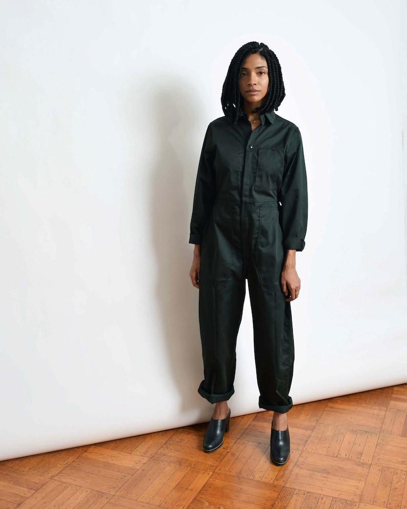 3aa51c63b122 Vintage Smaller Fit Coveralls in Dark Green Jumpsuit Flight