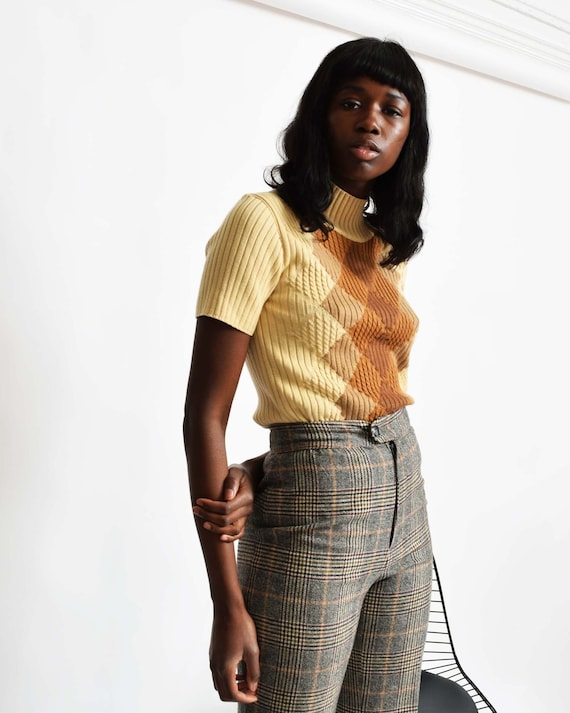 Vintage Escada Argyle Top