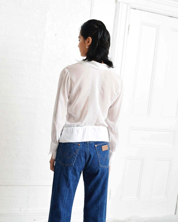 Antique Pintucked Blouse - image 3