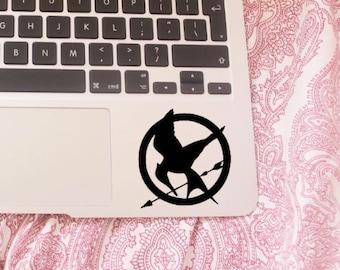 Hunger games - mockingjay bird - mockingjay logo - catching fire - katniss everdeen - film - laptop decal - vinyl sticker - vinyl decal
