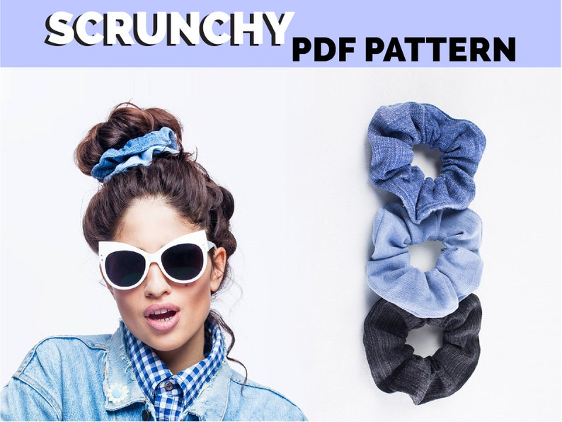 Scrunchie pattern PDF downloadable pattern Personal license image 0