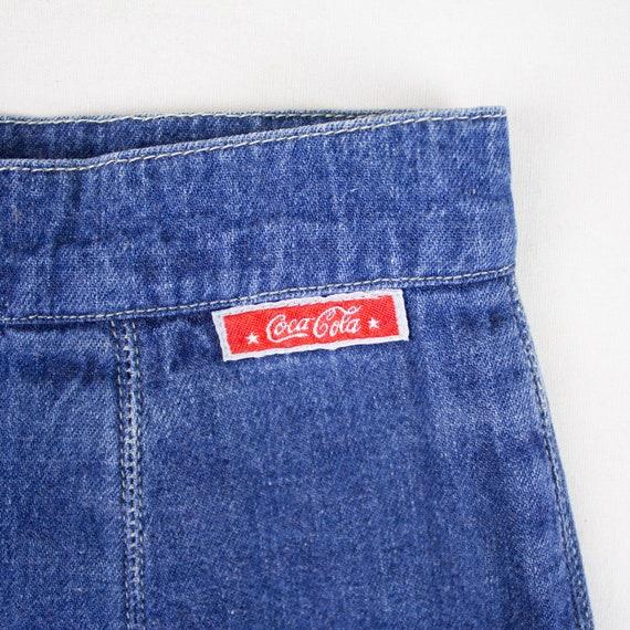 Vintage denim midi skirt, Denim Skirt, A-line Den… - image 7