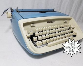 Blue Royal Aristocrat Vintage Manual Typewriter & Case (for Display/Repair) - Free Shipping to Lower 48!