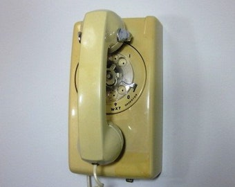 Rotary Wall Phone Etsy