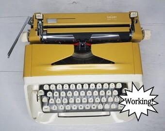 Amazing Rare Yellow Royal Safari Working Vintage Manual Typewriter & Case w/Manual and Key! Free Shipping to Lower 48!