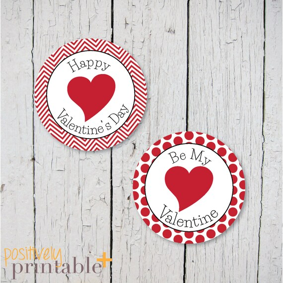 picture relating to Valentine's Day Printable Decorations identify Valentines Working day Pink Deco Dots - Printable Stickers, Cupcake Toppers or Decorations